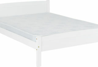 Amber 4'6 Bed - White