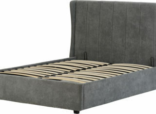 Amelia 4'6 Plus Bed - Dark Grey Fabric