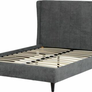Amelia 5' Bed - Dark Grey Fabric