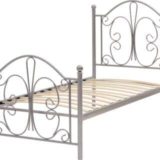 Annabel 3' Bed - Silver