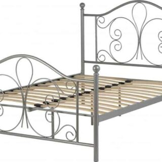 Annabel 4'6 Bed - Silver