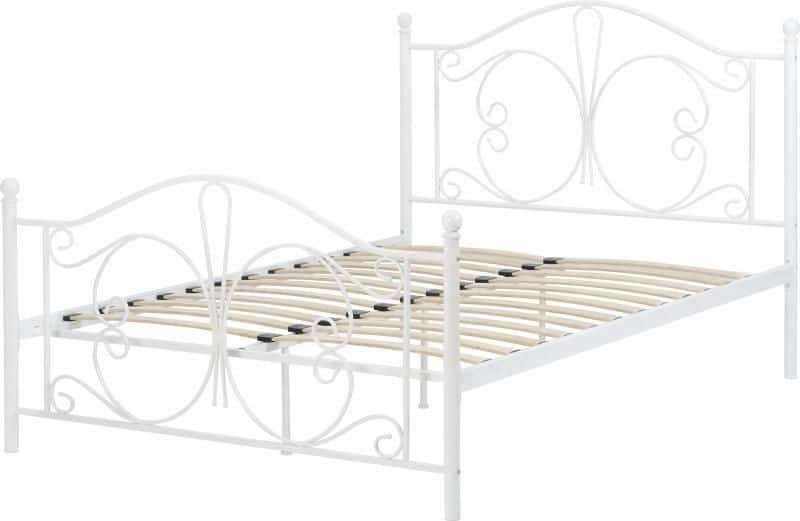Annabel 4'6 Bed - White