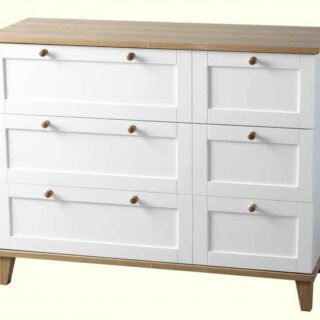 Arcadia 3 Drawer Chest - White/Ash Effect Veneer
