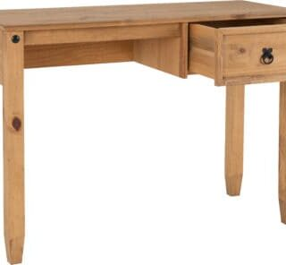 Budget Mexican Study Desk - Distressed Waxed Pine