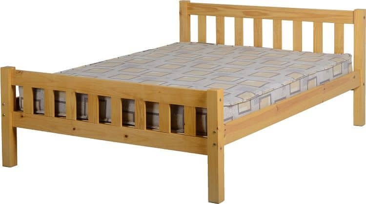 Carlow 4'6 Bed - Antique Pine