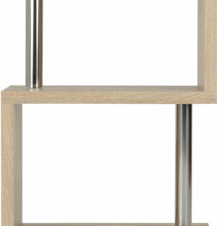 Charisma 3 Shelf Unit - Light Sonoma Oak Effect Veneer/Chrome
