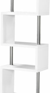 Charisma 5 Shelf Unit - White Gloss/Chrome