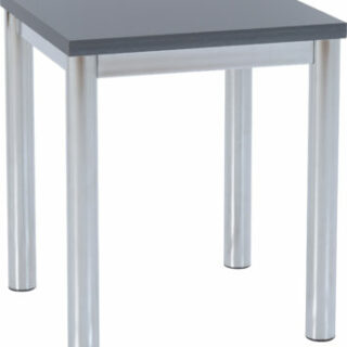 Charisma Lamp Table – Grey Gloss/Chrome