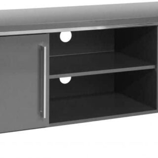 Charisma 2 Door TV Unit - Grey Gloss/Chrome