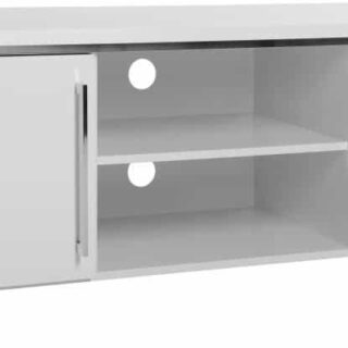 Charisma 2 Door TV Unit - White Gloss/Chrome