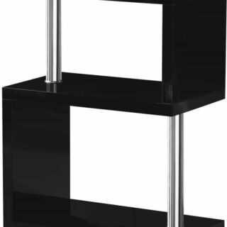 Charisma 3 Shelf Unit - Black Gloss/Chrome