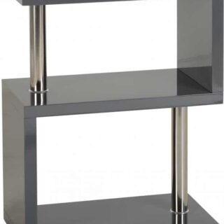 Charisma 3 Shelf Unit - Grey Gloss/Chrome