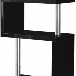 Charisma 5 Shelf Unit - Black Gloss/Chrome