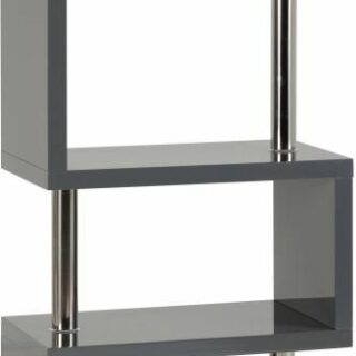 Charisma 5 Shelf Unit - Grey Gloss/Chrome