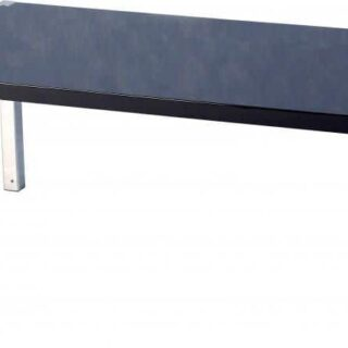 Charisma Coffee Table - Black Gloss/Chrome