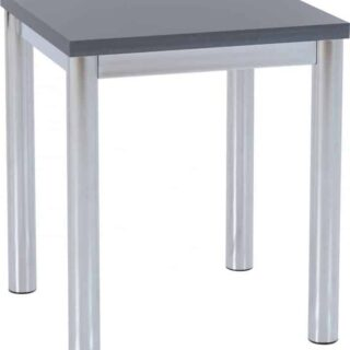 Charisma Lamp Table - Grey Gloss/Chrome