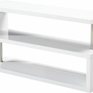 Charisma TV Stand - White Gloss/Chrome