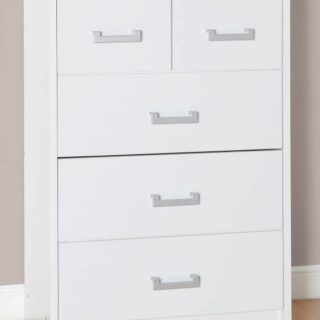 Charles 3+2 Drawer Chest - White