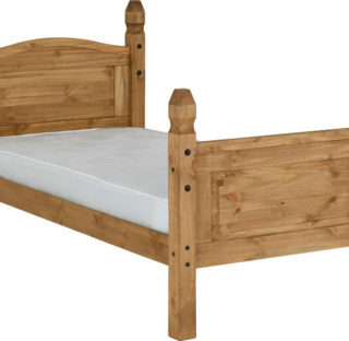 Corona 3' Bed High Foot End - Distressed Waxed Pine