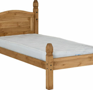 Corona 3' Bed Low Foot End - Distressed Waxed Pine