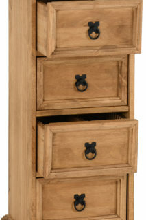Corona 4 Drawer CD Chest - Distressed Waxed Pine