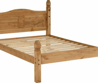 Corona 4'6 Bed Low Foot End - Distressed Waxed Pine