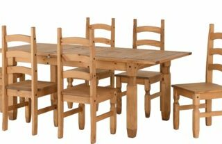 Corona Extending Dining Set (1+6) - Distressed Waxed Pine