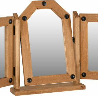 Corona Triple Swivel Mirror - Distressed Waxed Pine