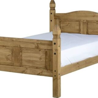 Corona 4' Bed High Foot End - Distressed Waxed Pine