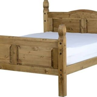 Corona 5' Bed High Foot End - Distressed Waxed Pine