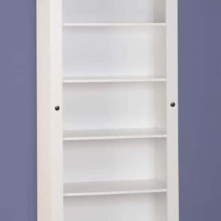 Corona Tall Bookcase - White/Distressed Waxed Pine