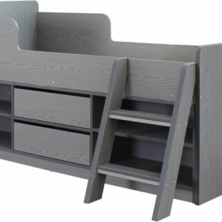 Felix Low Sleeper Bed - Grey