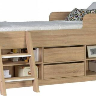 Felix Low Sleeper Bed - Sonoma Oak Effect Veneer