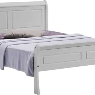 Georgia 4'6 Sleigh Bed - Grey