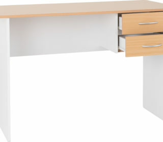 Jenny 2 Drawer Study Desk - Beech/White