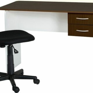 Jenny 2 Drawer Study Desk - Wenge/White