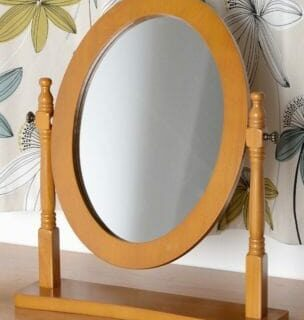 Contessa Dressing Table Mirror - Antique Pine