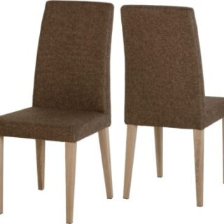 Milan Chairs (Set of 4) - Brown Fabric