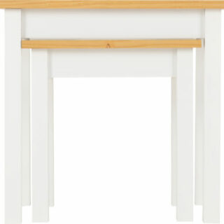 Ludlow Nest of Tables - White/Oak Lacquer