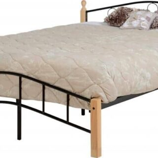 Luton 4'6 Bed - Natural/Black