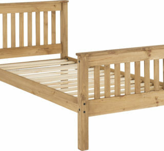 Monaco 3' Bed High Foot End - Distressed Waxed Pine