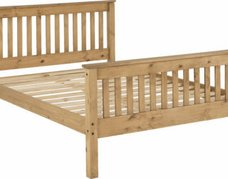 Monaco 5' Bed High Foot End - Distressed Waxed Pine