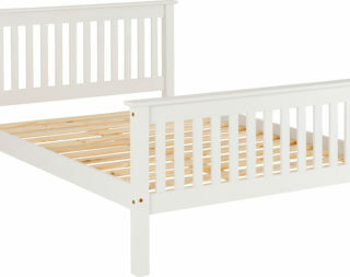 Monaco 5' Bed High Foot End - White