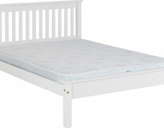 Monaco 5' Bed Low Foot End - White