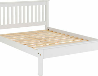 Monaco 4'6 Bed Low Foot End - White