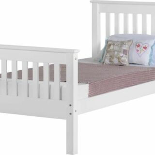 Monaco 3' Bed High Foot End - White