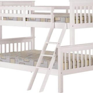 Neptune Triple Sleeper Bunk Bed - White