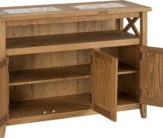 Salvador Tile Top Corner TV Unit - Distressed Waxed Pine