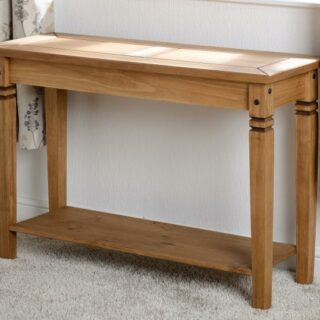 Salvador Console Table - Distressed Waxed Pine