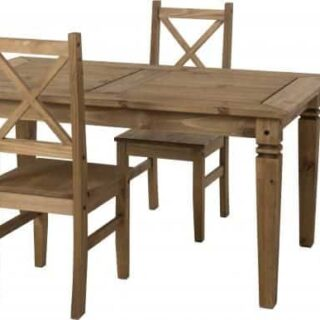 Salvador (1+4) Dining Set - Distressed Waxed Pine